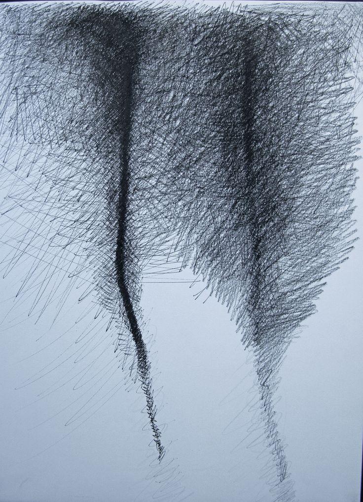 Desconstrução II, caneta e grafite sobre papel, 70x60