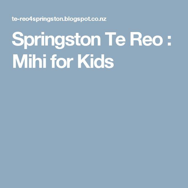 Springston Te Reo : Mihi for Kids