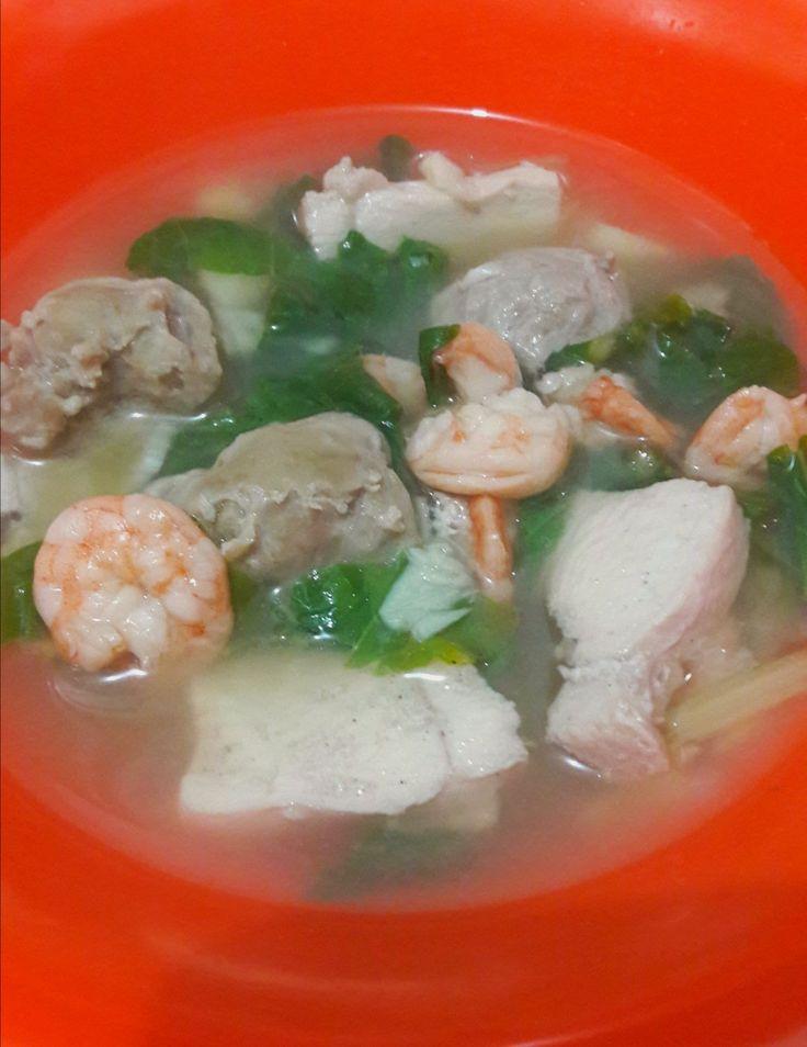sup sehat #meatball #chicken #shrimp #vege