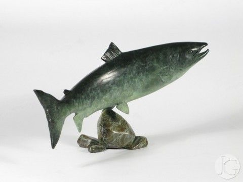 Wildlife sculpture by Ian Greensitt from The Jerram Gallery, Sherborne, Dorset. Contemporary British pictures and sculpture