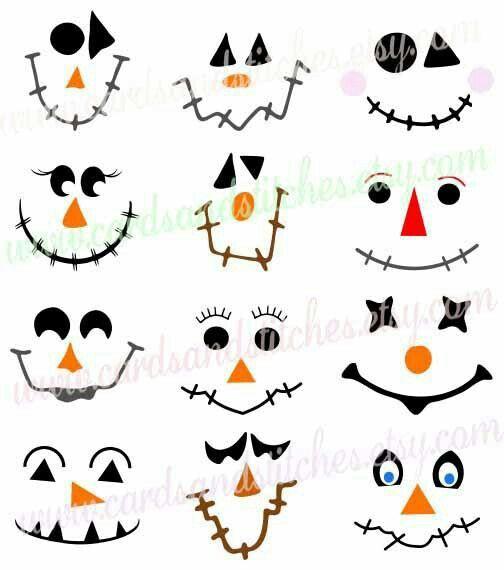 Scarecrow/pumpkin faces