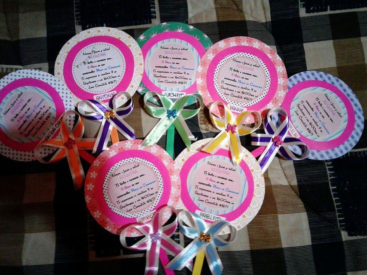 Tarjeta invitacion candy party
