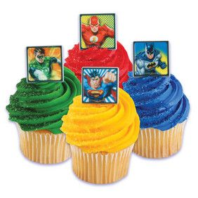 Justice League No Fear Cupcake Ring