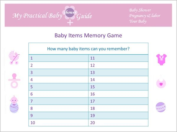 Beautiful #Free #Printable #Baby #Shower #Items #Memory #Game. Download