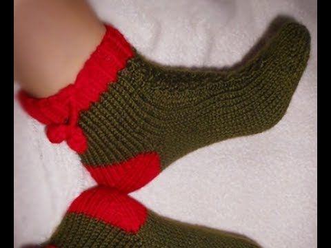 5 şişle örnekli çorap (baştan sona DETAYLI ANLATIM) - YouTube