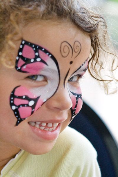 Face painting - Bufferfly....good ideal for Halloween