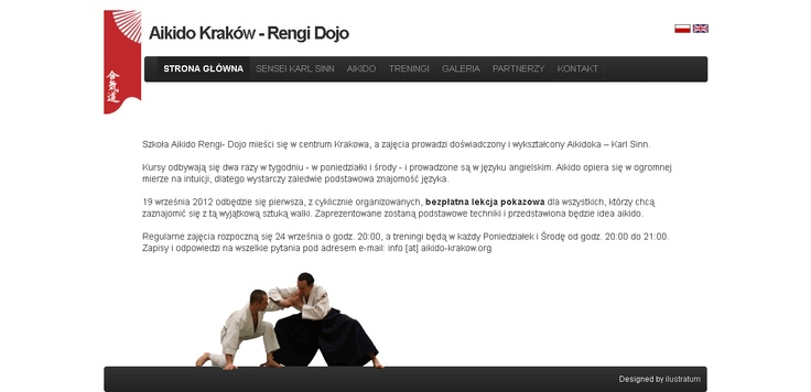 Q with Illustratum have prepared new website for Aikido School www.aikido-krakow.org  #aikido #rengidojo