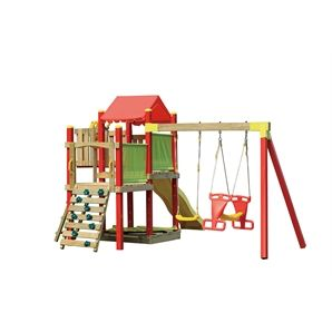 And the winner goes to.... Swing Slide Climb Camelot Multi Play Playground $1299