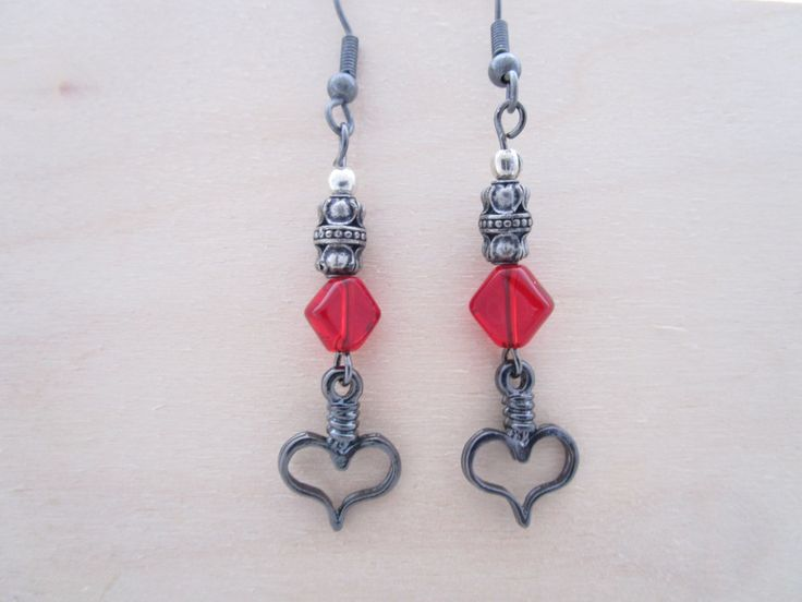 Game of Red Earrings by NovemberSunset on Etsy