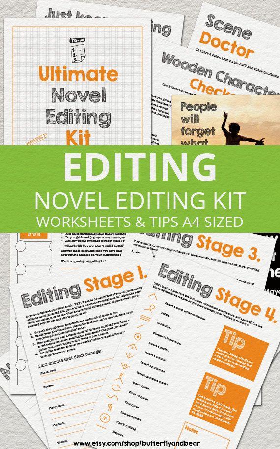 Ultimate+Novel+Editing+Kit++Printable+by+ButterflyandBear+on+Etsy,+$11.20