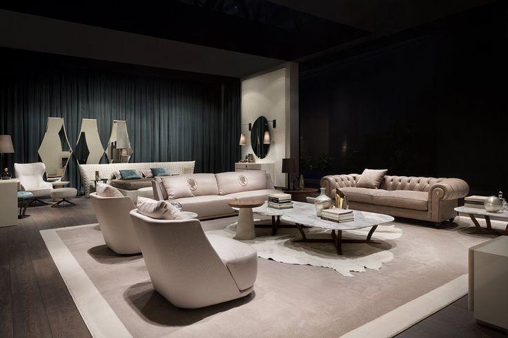 Vivien and Alfred #lounge! #controlucehome by @albertapf  Milano 2017, Thanks! #salonedelmobile #milano  #albertamadeinitaly #interiordesign #design #furniture