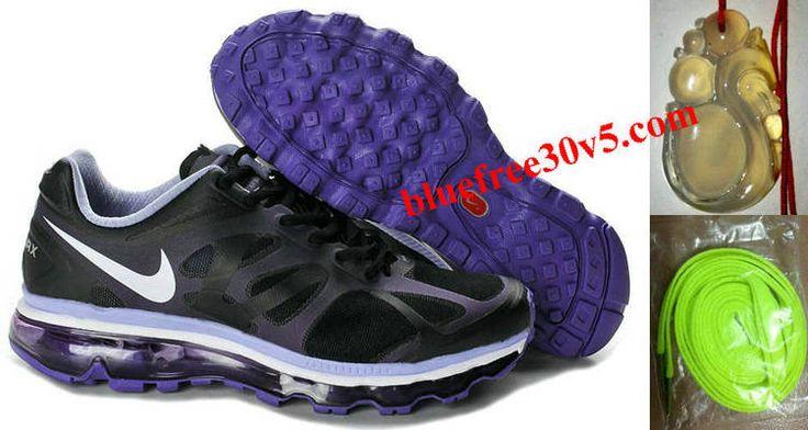 Womens Nike Air Max 2012 Black White Purple Shoes