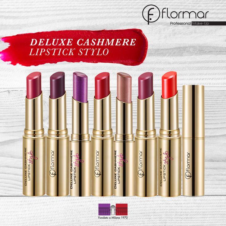 Los labiales #Flormar Deluxe Cashmere Stylo serán el toque final para un maquillaje perfecto