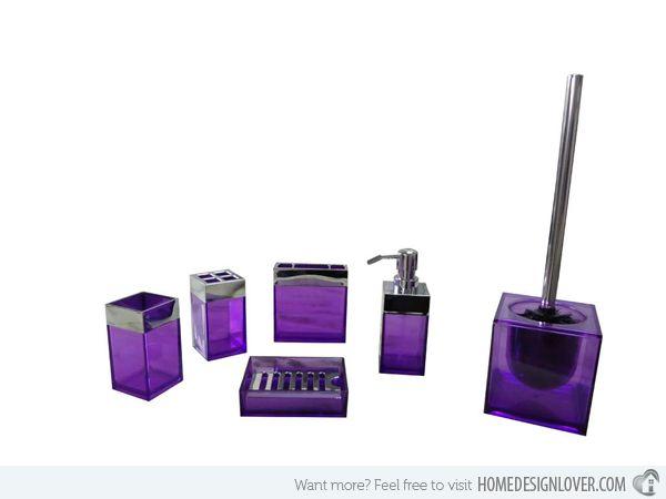 15 elegant purple bathroom accessories