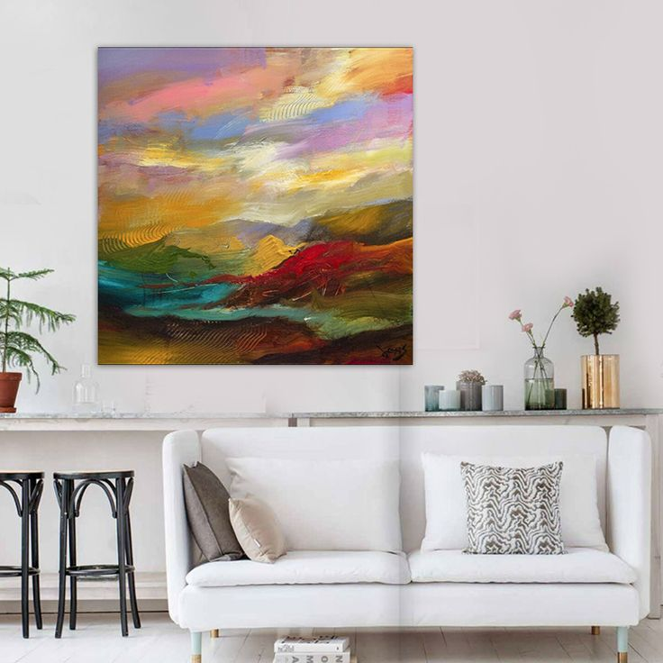 Lovely ... Landscape Evening Mountains Multicolored Office Bedroom Living Room  Wall Art Canvas,High Quality Art Balance,China Canvas Wall Art Suppliers,  Cheap ...