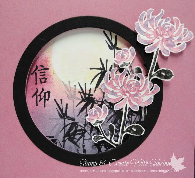 Stamp & Create With Sabrina: Artistically Asian in Black, Sweet Sugarplum & Wisteria Wonder