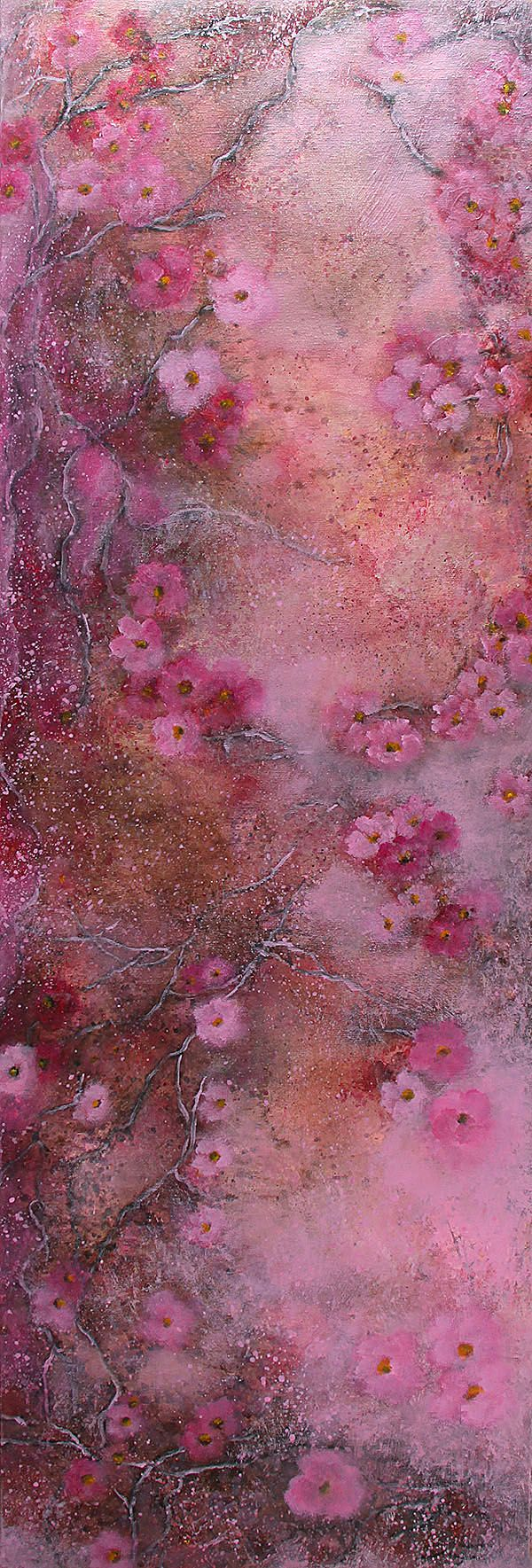 In a rose of delight...40x120cm acrylic canvas