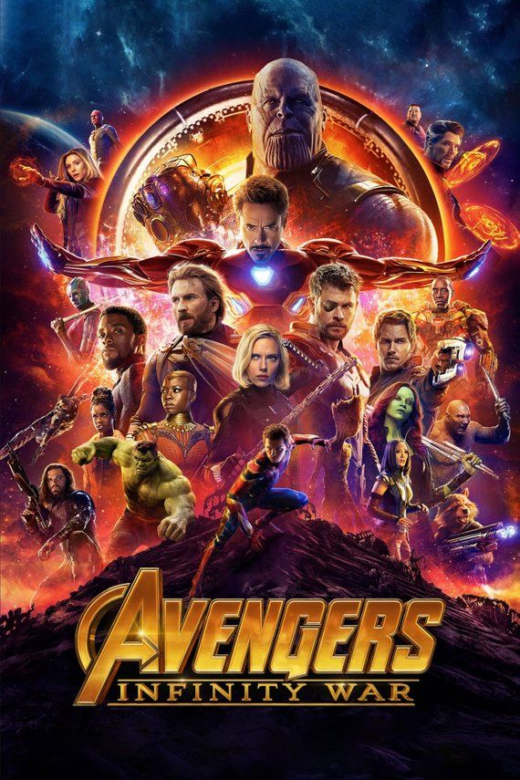 """Avengers 4 End Game Poster Marvel Movie Characters Art Print Size 27x40/"""" 24x36/"""""""