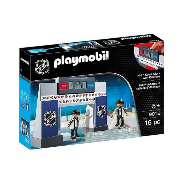 Nhl Score Clock With 2 Referees Playmobil Hockey Kids Party Nhl