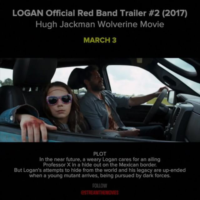 LOGAN In the near future, a weary Logan cares for an ailing Professor X in a hide out on the Mexican border. But Logan's attempts to hide from the world and his legacy are up-ended when a young mutant arrives, being pursued by dark forces.  CAST: Hugh Jackman, Boyd Holbrook, Doris Morgado, Patrick Stewart, Stephen Merchant  #logan #loganmovie #wolverine #marvel #cinema #trailer #movietrailers #newmovies #hughjackman #xmen #comingsoon #netflix Reposted Via @movieclipsmania