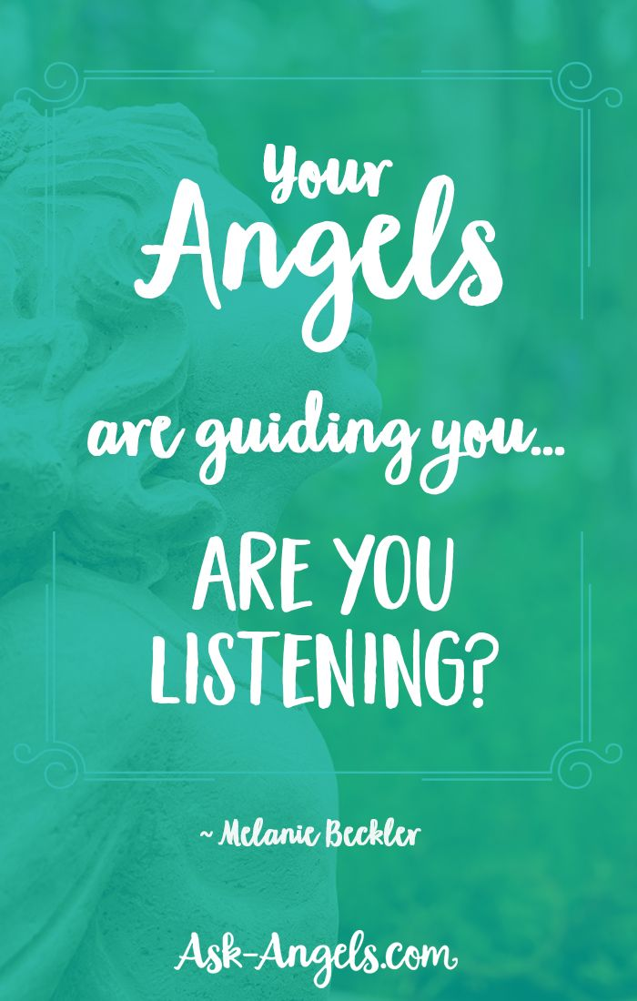 Angels are here to serve you.