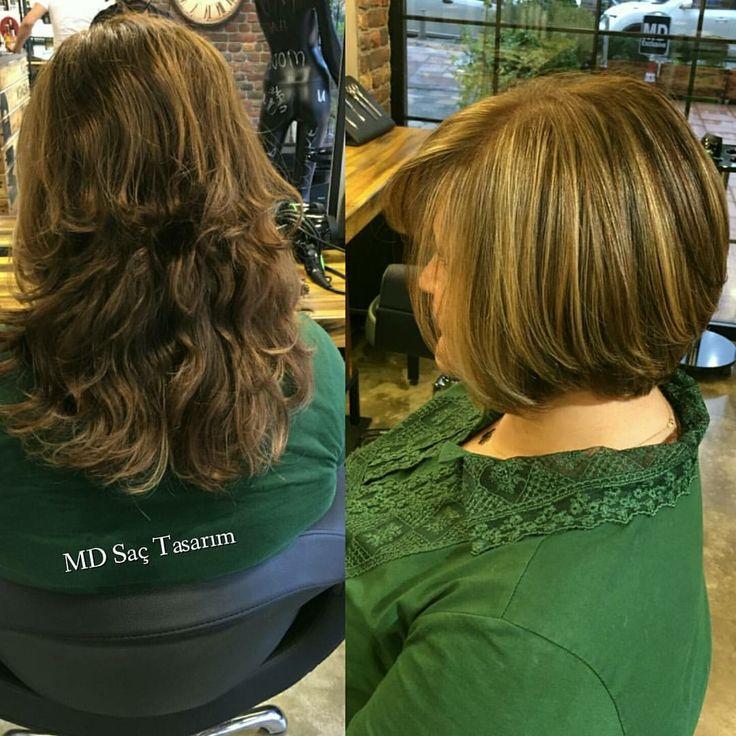 En trend saç kesim modelleri MD de.. #haircutting #kesim #hair #mdsactasarim
