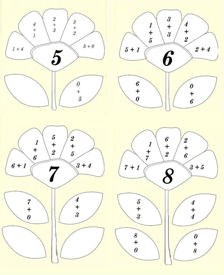 Състав на числата: 5, 6, 7, 8.