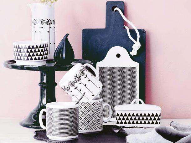 DIY-Idee: Weißes Porzellan mit grafischen Mustern verzieren