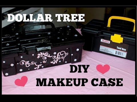 DOLLAR TREE | Fabulous DIY MAKEUP CARRYING CASE | Super Easy!!