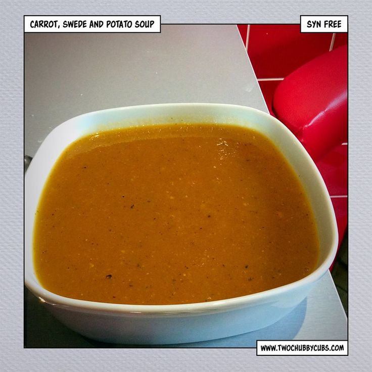 This carrot, swede and potato soup is syn free and makes itself, chuck it all into one pot for a syn free dinner perfect on Slimming World. Remember, at www.twochubbycubs.com we post a new Slimming World recipe nearly every day. Our aim is good food, low in syns and served with enough laughs to make this dieting business worthwhile. Please share our recipes far and wide! We've also got a facebook group at www.facebook.com/twochubbycubs - enjoy!
