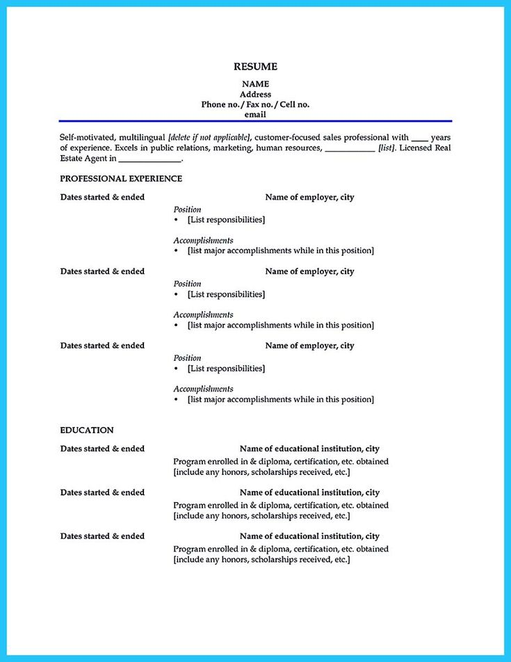 awesome Writing a Clear Auto Sales Resume, resume template - beginner resume