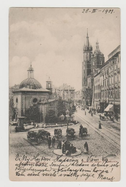1899 OLD CRACOW MAIN SQUARE
