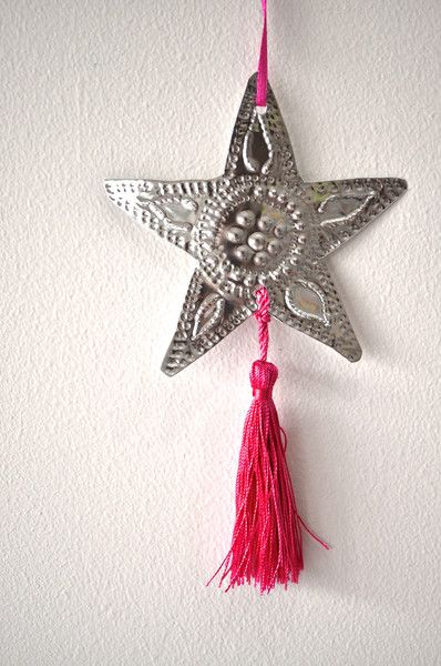 STAR CHRISTMAS DECORATION-PINK