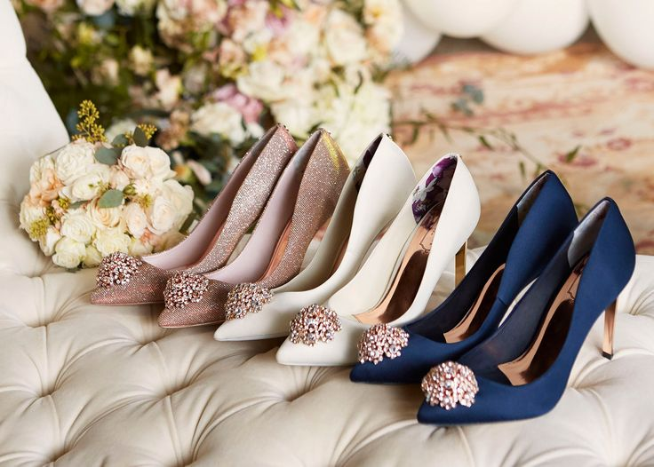 On the hunt for wedding shoes? Head to Ted Baker's beautiful, and affordable, bridal accessories collection. #ad