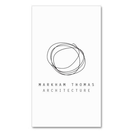 Minimal and Modern Designer Scribble Logo Business Card