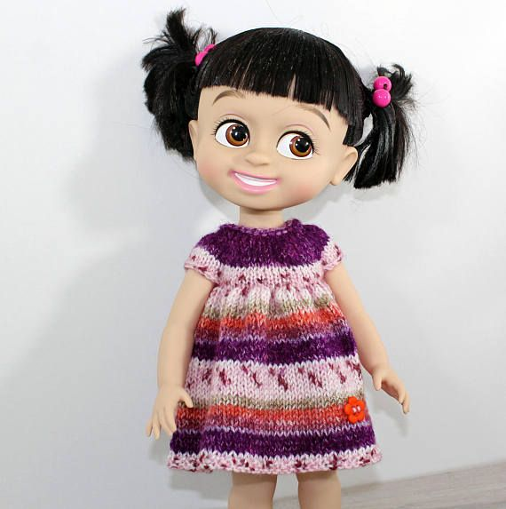 Knitted dress for Disney Princess Animators 16 inch doll.