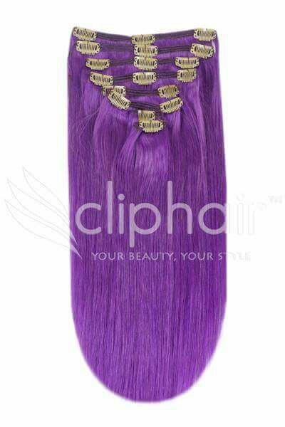 Spice up your hair with our super funky Purple Human Hair Extensions   Shop Now ⏩ https://www.cliphairaustralia.com/Purple-Hair-Extensions/