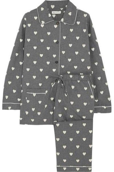 #covetmeHeart-print cotton-voile pajama set #nightwear #covetme #chintiandparker