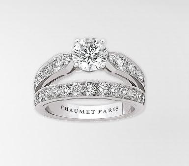 Bague Chaumet - Bague diadème Joséphine en platine, diamants