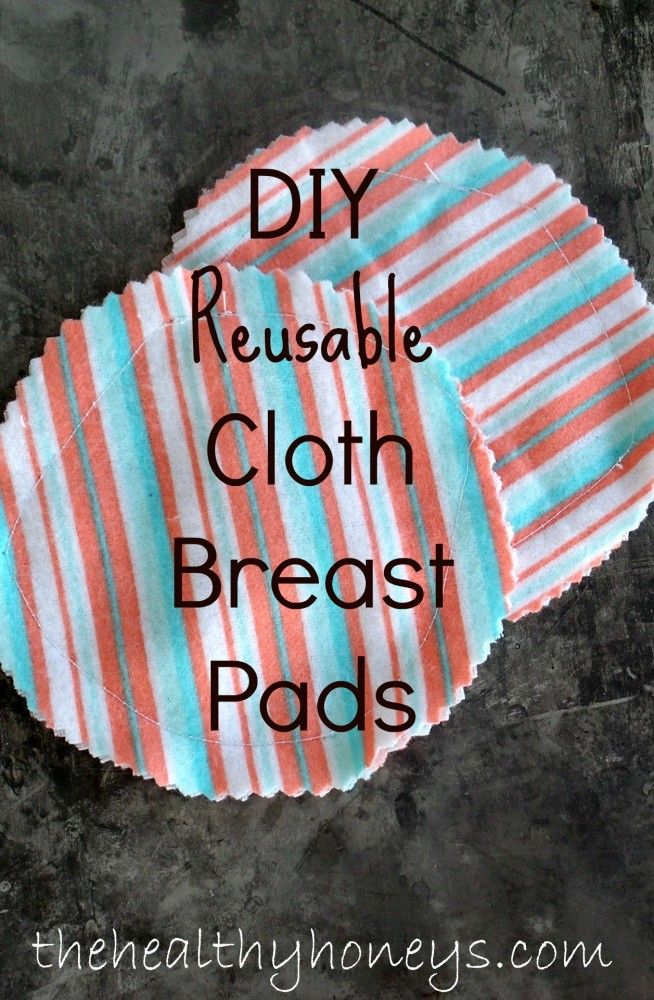 DIY Reusable Cloth Breast Pads - The Healthy Honeys // So simple! Add a layer of PUL on the outside to make it waterproof... or cut up a prefold cloth diaper for added absorbency... Yup. Making these.
