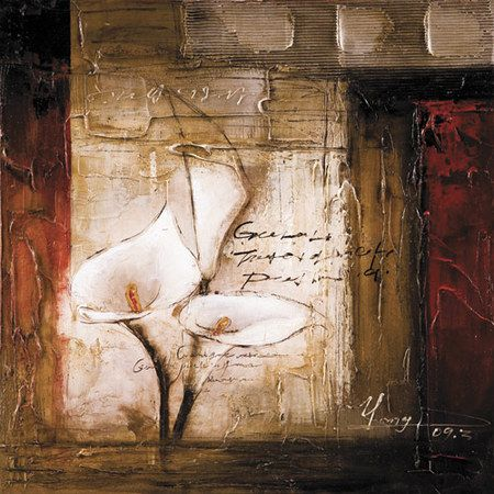Callas In The Field II | Raised Texture Canvas | Canvas | Canvas Transfer | Hand & 236 best Hand Painted Textured Canvas images on Pinterest | Framed ...