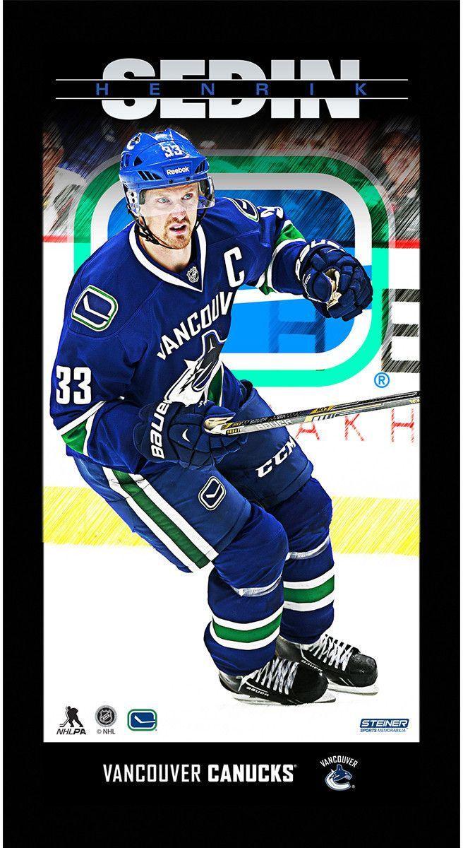 Henrik Sedin Vancouver Canucks Player Profile 10x20 Framed Photo