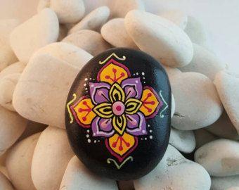 Mandala stone by PierreduCoeur on Etsy