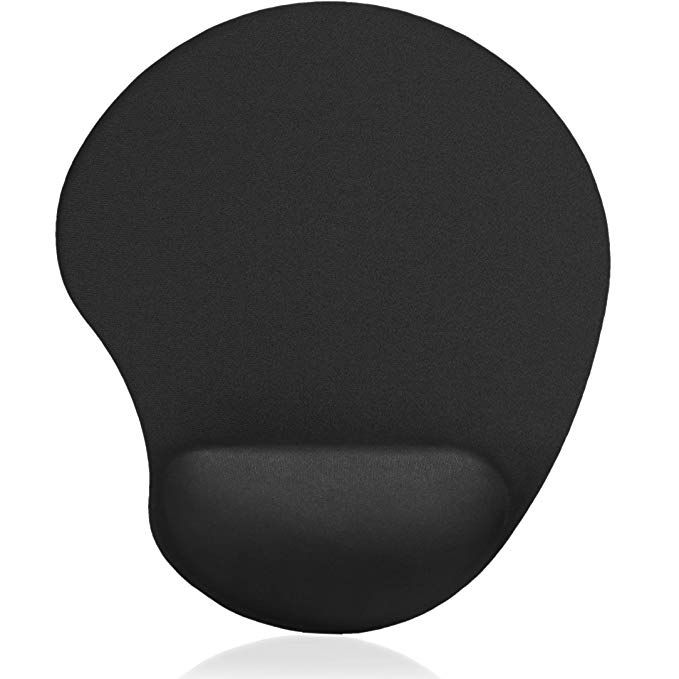 Ergonomic Non-Slip Rubber Based Mouse Pad With Memory Foam Wrist Rest Support