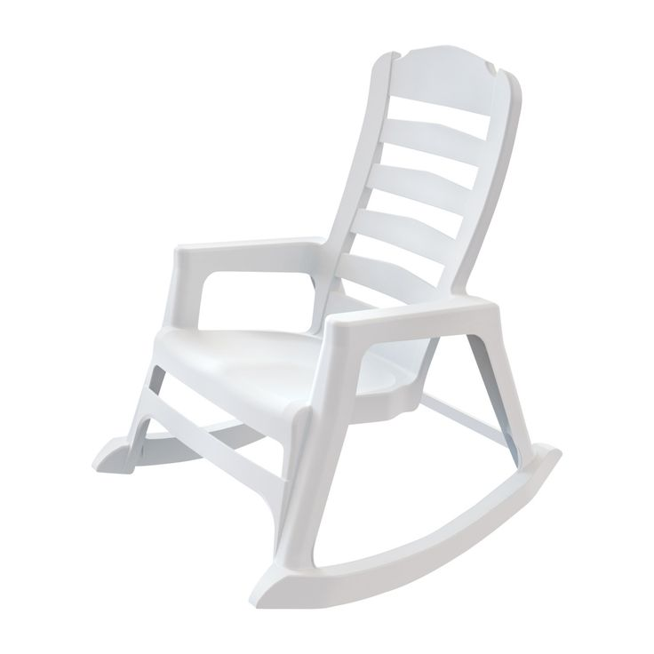 Ace Hardware and also Lowe's have these (Two) Adams Stacking Resin White Rocking Chair (8080-48-3700) - Save on Patio Furniture -