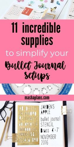 11 Bullet Journal Supplies Under 10$ To Make BuJo Easy