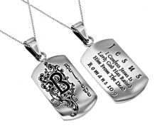 'Believe' - Women's Dog Tag Necklace