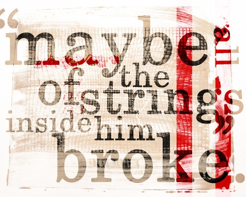 """""""Maybe all the strings inside him broke."""" Margo Paper Towns"""