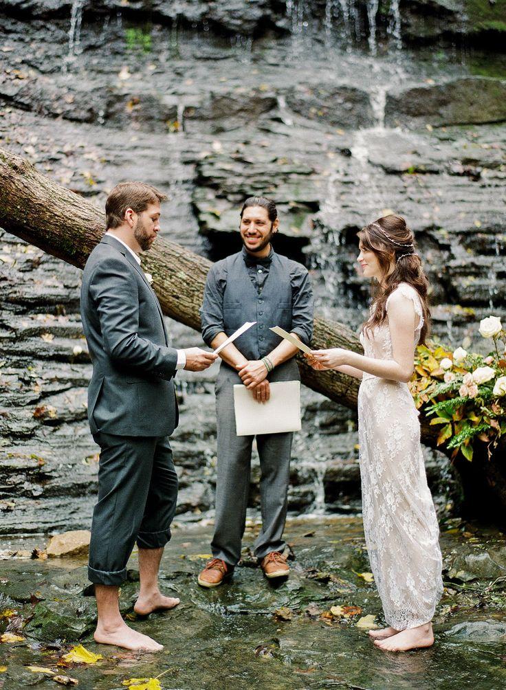 Jackson Falls | Natchez Trace | Nashville, TN | Waterfall Wedding | Nashville Elopement | Ceremony in Water | Barefoot Wedding | Fall Nashville Wedding | Park Wedding | Petal & Pine | Southern Social Events | Sophie Epton Photography