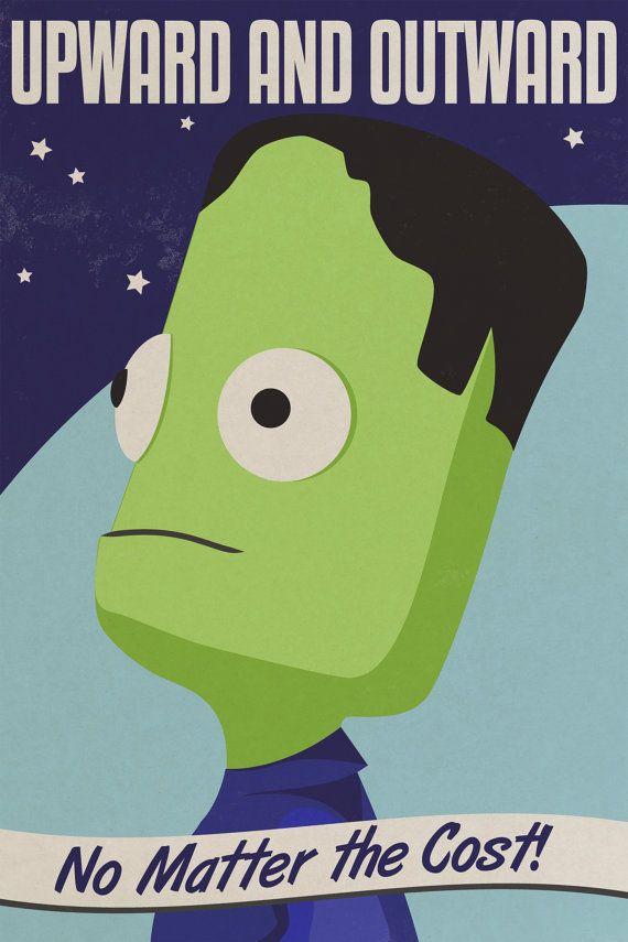 Kerbal Space Program Poster by dvanderbleek on Etsy, $13.00 steve